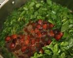 Супа с чоризо, картофи и спанак 4