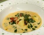 Супа с чоризо, картофи и спанак 6