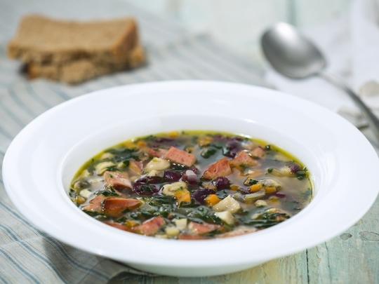 Супа с боб и наденица
