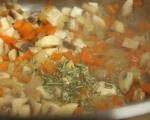 Супа с боб и наденица 5