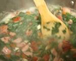 Супа с боб и наденица 9