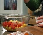 Наденица на шиш със салата от царевица 5