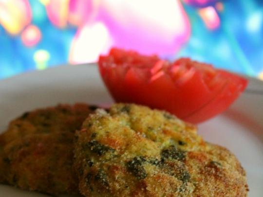 Картофени кюфтенца със спанак и тиквички