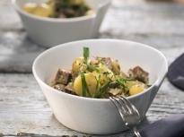 Картофена салата с телешки език