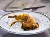 Пилешко със зелен фасул на фурна