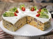Солена торта в мексикански стил