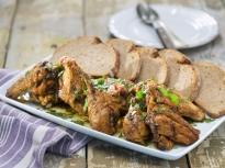 Пържено пиле с чесън (Челамичка по ро...
