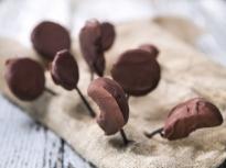 Плодове с шоколад на клечка