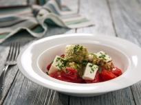 Салата от домати и патладжани с тапенада