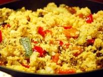 Кускус със зеленчуци и месо