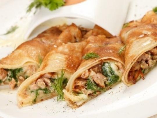 Палачинки с месо с мексикански привкус