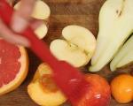 Салата от плодове на грил с крем от козе сирене 3