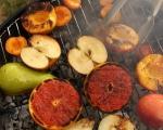 Салата от плодове на грил с крем от козе сирене 4