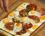 Яйца с домати на фурна 5