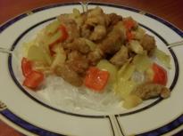 Свинско по китайски с ананас