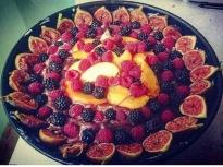 Лятна торта с плодове и домашен крем