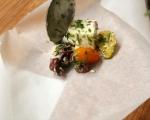 Печено сирене с чери домати и маслини 4