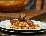 Домашна свинска наденица с бобена салата 9