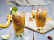 Студен чай с цитруси и смокини