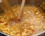 Супа от царевица с печено свинско бонфиле 3