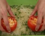 Пълнени домати върху ориз 7