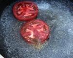 Обърнат царевичен кейк с домати 6