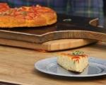 Обърнат царевичен кейк с домати 9
