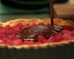Шоколадов тарт с малини 8