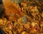 Пилешка кавърма с таханов сос 5