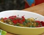 Зеленчуци с козе сирене на фурна 5