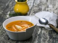 Супа от карфиол и печени чушки