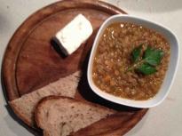 Супа от леща с пилешки бульон