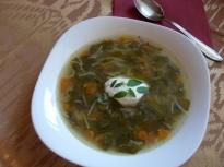 Супа от листа на червено цвекло