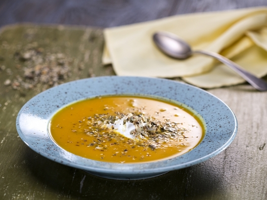 Супа от печени моркови