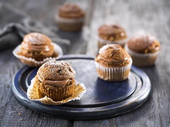 Орехови кексчета с кафе и шоколад