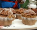 Орехови кексчета с кафе и шоколад 8