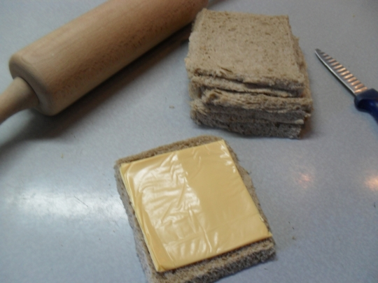 Пържени рулца с топено сирене
