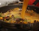 Фритата с царевица и гъби 6