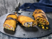 Трио от царевични палачинки
