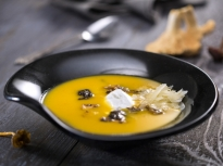 Супа от тиква с горски гъби