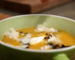 Супа от тиква с горски гъби 8