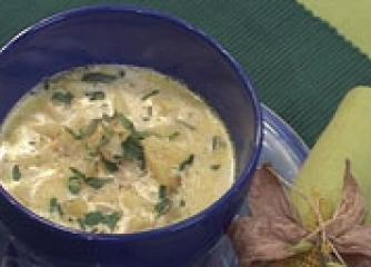 Млечна картофена супа с девесил