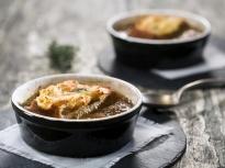 Френска лучена супа (постна)