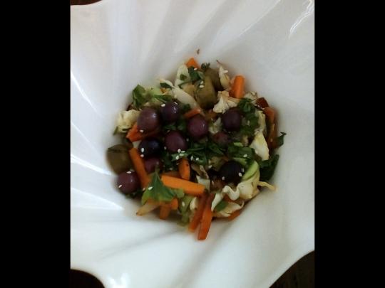 Салата от печени зеленчуци и овесени ...