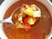 Пилешка супа с печени чушки