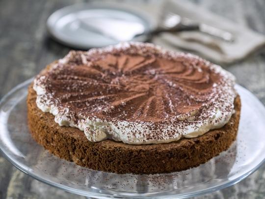 Шоколадово-орехов кейк