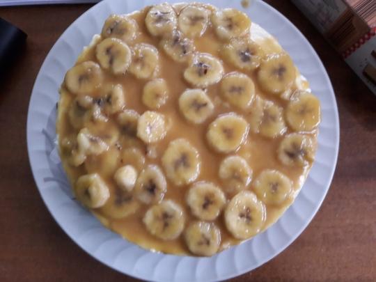 Бананов чийзкейк с ром без печене