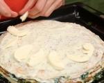 Палачинкова торта с шунка и спанак 10