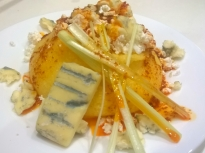 Качамак със синьо сирене и кашкавал