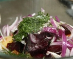 Свински джолан със салата от печени зеленчуци 8